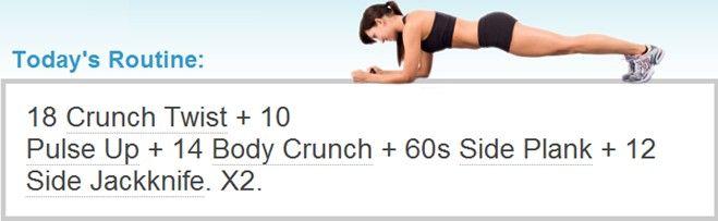 workout crunch twist