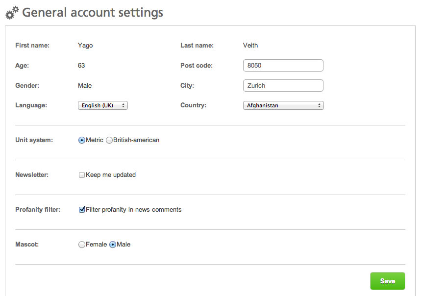 my account settings dacadoo