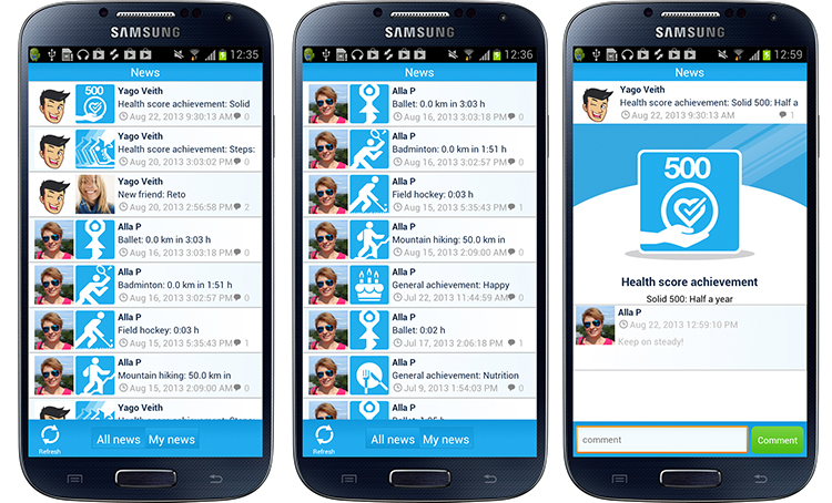 new dacadoo v 2.2. mobile application for iOS, Android and ...