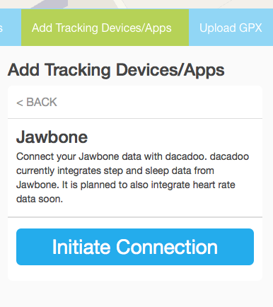 Jawbone initiate connection