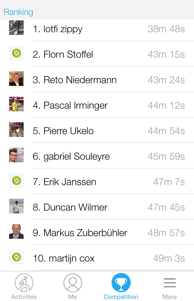 Ranking 10k challenge dacadoo