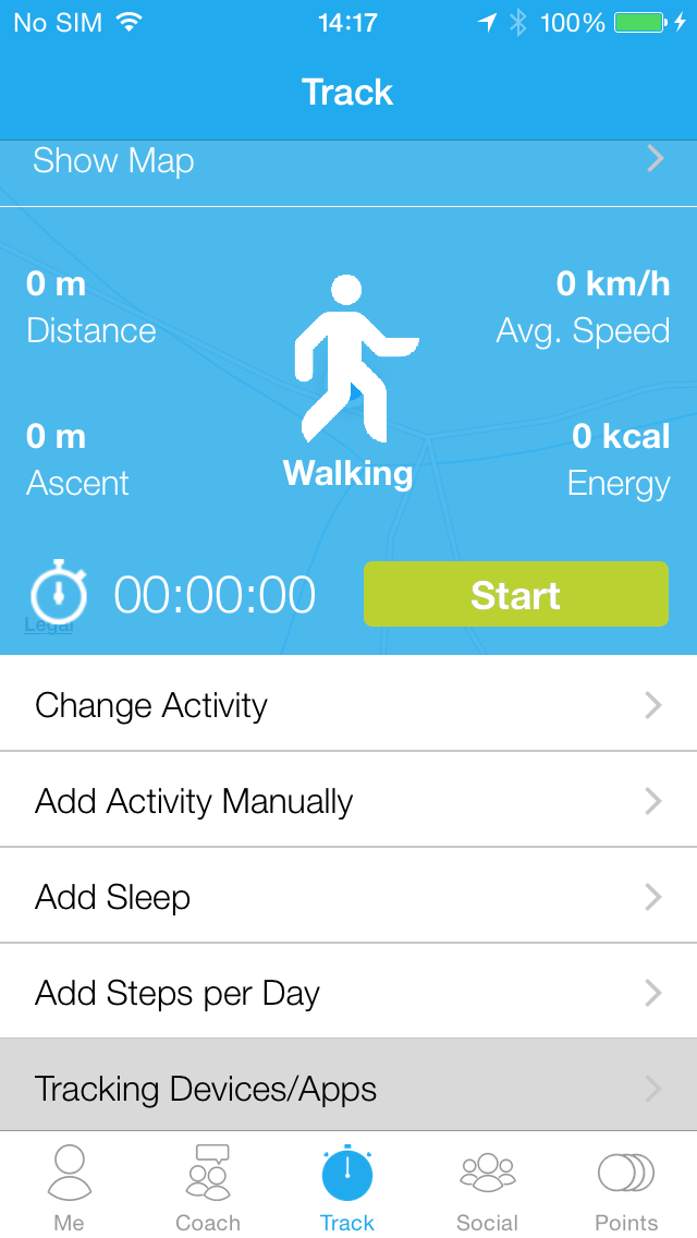 dacadoo App Workout Settings