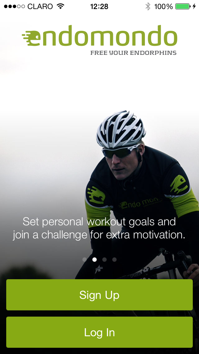 Endomondo Log In screen