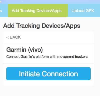 Garmin-initiate-connection