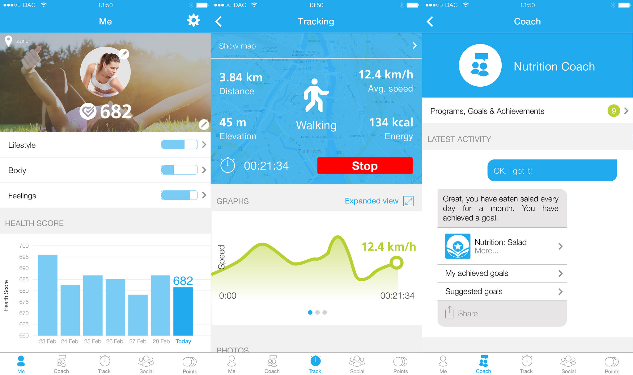 dacadoo iOS App Version 30 screen