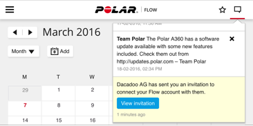 Polar connection invitation