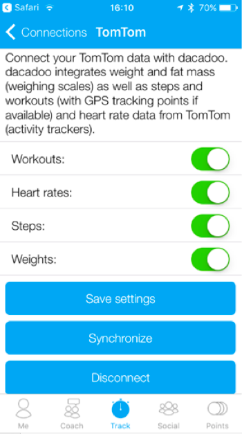 How to connect TomTom (MySports) with dacadoo - dacadoo blog