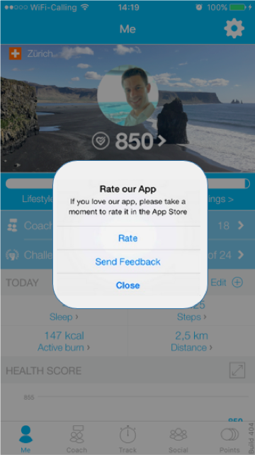 Image: Rate Your App & Feedback (iOS & Android only)
