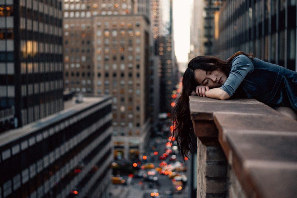 Woman fell asleep